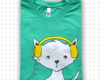 DJ Kitty Cat ADULT T-shirt