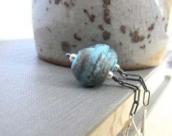 Blue Glass, Glass Earrings, Blue Earrings, Silver Earrings, Funky Earth, Lampwork Glass, Oxidized Silver, Sterling Silver