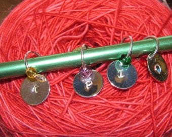 Love to Knit Hand Stamped Stitch Markers