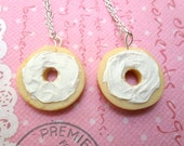Bagel Best Friend Necklaces - BFF Necklace Set, Miniature Food Jewelry, Polymer Clay Food Necklace