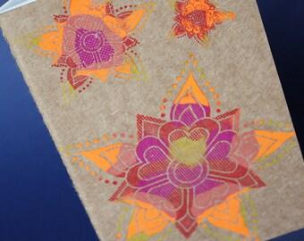 Diya Rangoli Moleskine Pocket Cahier Journal, gocco printed
