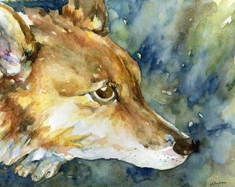 Pembroke Welsh Corgi Original Watercolor  Painting, Corgi Art, Corgi Decor