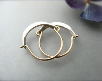 mini minimalist ... 14k gold filled hoops