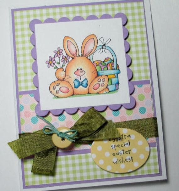 Easter Bunny Loves YOu Handmade Card