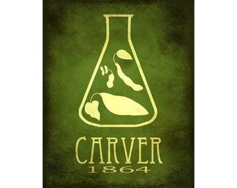 Science Poster 8x10, George Washington Carver Scientific Art Print, STEM Design, Agricultural Chemistry Food Art, Megan Lee Studio