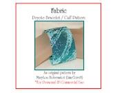 Peyote Bracelet Pattern ... FABRIC ... Monochromatic . Abstract . Bold . Chic . Stylish . Elegant . Beautiful . Make It Yourself . 3 for 2