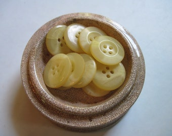 buttery yellow buttons set of 12