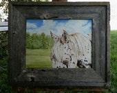 Leopard Appaloosa Original Oil Painting Horse Landscape Art by debra alouise Equine Artist