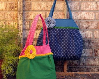 Nanette tote PDF sewing pattern