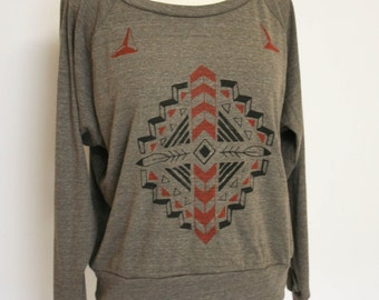 Dirt Navajo inpsired Slouchy Pullover