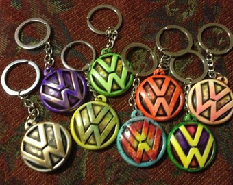 Custom Resin VW (Volkswagen) Keychain