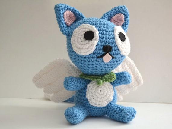 Happy Fairy Tail Cat Plush