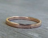 Recycled Wedding Band - 14k Rose Gold Wedding Ring or Stackable Ring, Eco-Friendly, Ethical, Made To Order