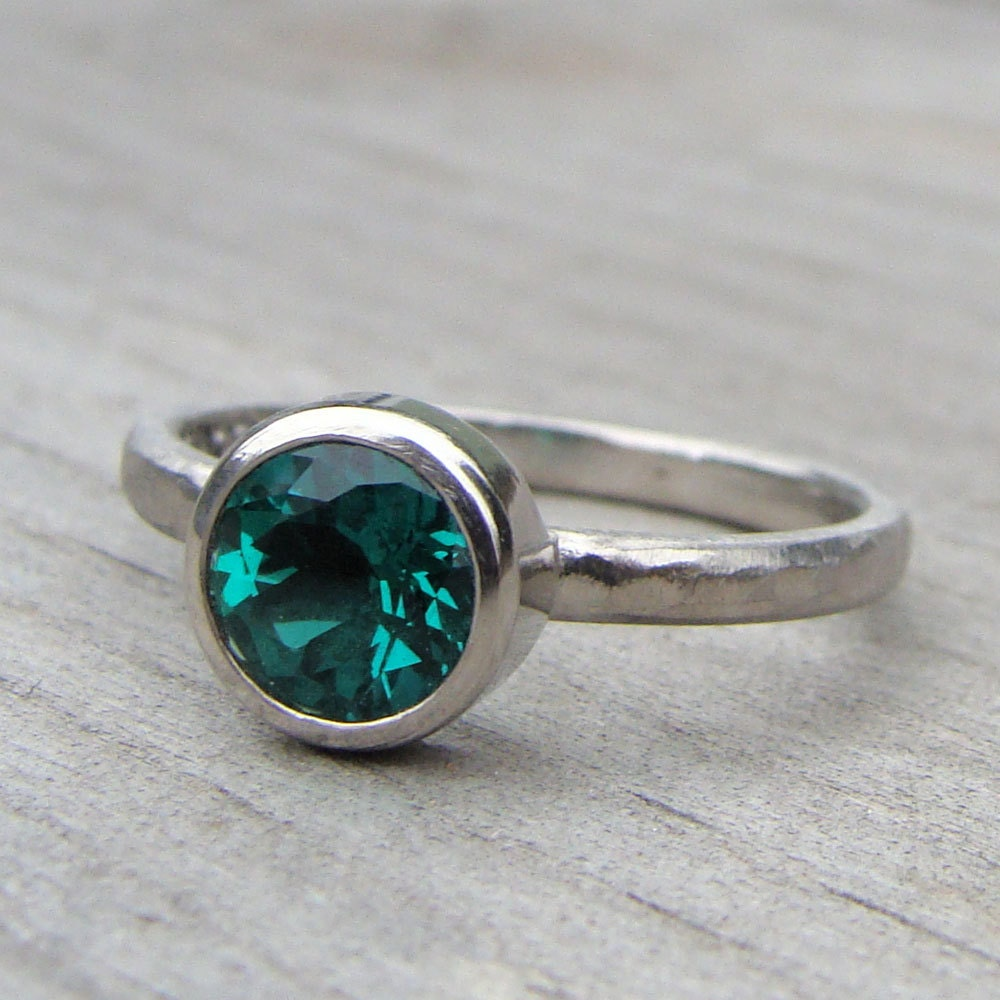 chatham lab created emerald and recycled 950 palladium
