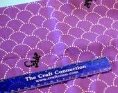 Echino LIzard on Purple - Japanese Fabric