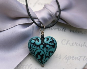 Paisley heart necklaces - closeout inventory