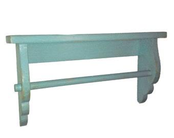 Wave Ledge Shelf With Towel Bar