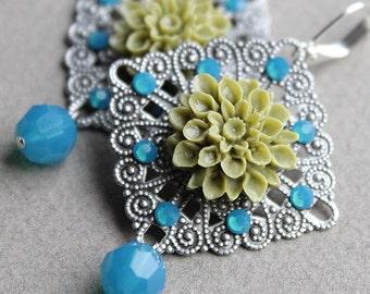 Caron Earrings - Silver - Swarovski Crystal