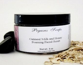 Oatmeal Milk and Honey Foaming Oatmeal Face and Body Scrub 4 oz