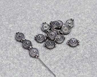 Silver Pewter Spacer Beads