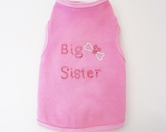 Big Sister Dog Shirt small dog clothes Humongous Big dog Shirt  Great for gender reveal parties
