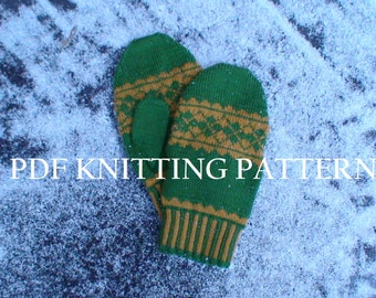 PDF Knitting Pattern - Argyle Mitten Collection