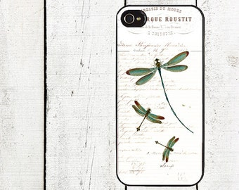 Turquoise Blue Dragonfly Phone Case for  iPhone 4 4s 5 5s 5c SE 6 6s 7  6 6s 7 Plus Galaxy s4 s5 s6 s7 Edge
