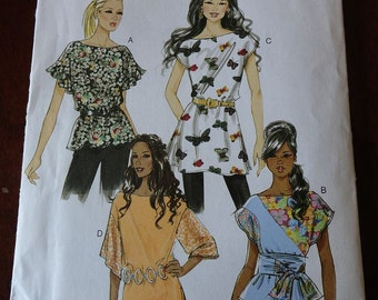 Butterick 5483 Misses Top Tunic and Sash Pattern size 16, 18, 20, 22 Uncut