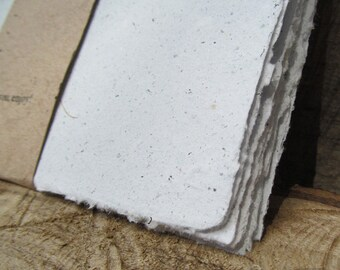 Handmade Paper from upcycled White Junk mail, no dyes or additives. Eco- Friendly, 8 1/2 x 5.5 inches-Recycled Handmade Paper