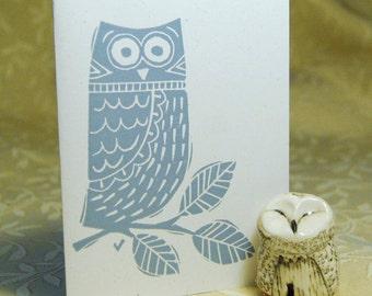Winter Owl Letterpress Note Cards