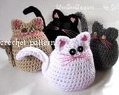 crochet pattern digital download rolly polly kitty