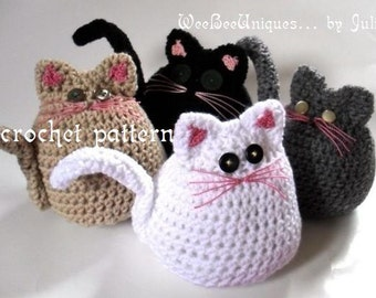 crochet pattern digital download rolly polly kitty