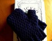 Classic Black Fingerless Gloves