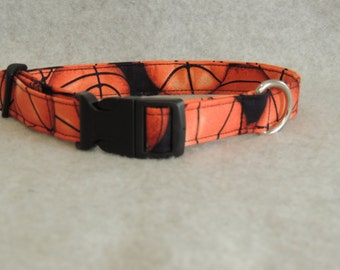 "Medium Dog Collar 3/4"" Wide 11-15"" Basketball"