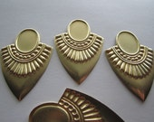 Breast Plate Tribal Shield 18x13 Cabachon Setting Brass Stamping on Etsy