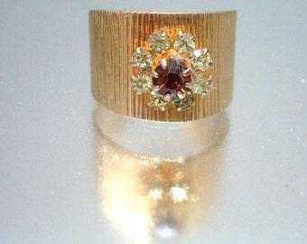 Sarah Conventry 1970's Jonquil Ring Adjustable Unused Vintage