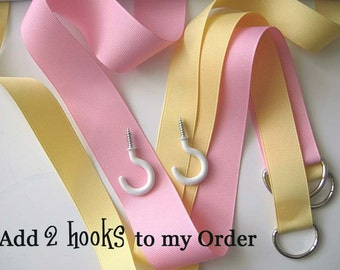 Add 2 Hooks ... to your Hair Bow Holder ....  add-on only to another purchase