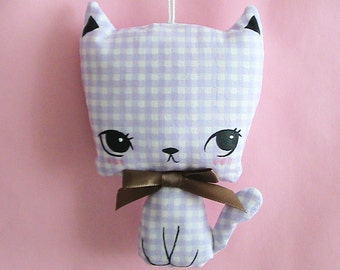 Little Kittie Plush Ornament - Gingham (Choose Favorite)