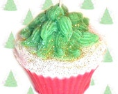 Apple Cake Christmas Tree Cupcake Candle Spicy Apple Scent Handmade
