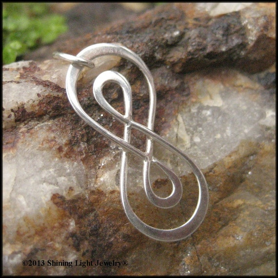 Double Infinity Symbol Charm Sterling Silver Infinity