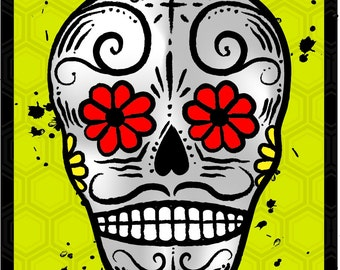 Day of the Dead refrigerator Magnet YELLOW