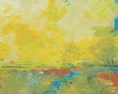 Original Painting, acrylic painting, landscape , rural country, river, sky, horizon, fields