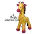 Giraffe Plush Toy Pattern PDF INSTANT DOWNLOAD