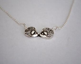 Handmade Silver Hedgehog Necklace