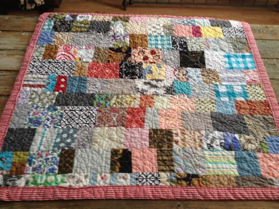 Reserved for fionaman  charming, soft, farmhouse baby quilt -- stroller size -- little boy -- cotton