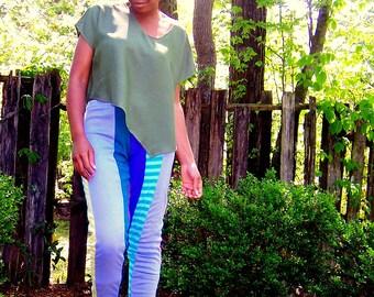 SAMPLE SALE//flyTie Clothing// Patchwork Leggings, M/L