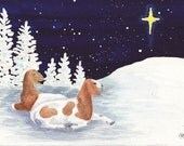 Boer Does Night 2 greeting cards-pack of 6 w/envelopes
