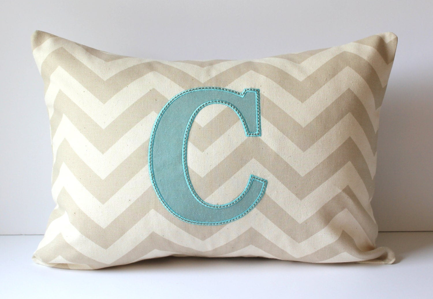 Monogrammed Throw Pillow Covers : APPLIQUE Monogram Decorative Pillow Cover. Letter by SewGracious