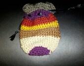 Girl Gamer Gear - Hand Crocheted Doctor Who Inspired Drawstring Bag / Dice Bag