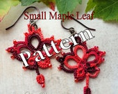 "Tatting Pattern ""Small Maple Leaf"" PDF Instant Download"